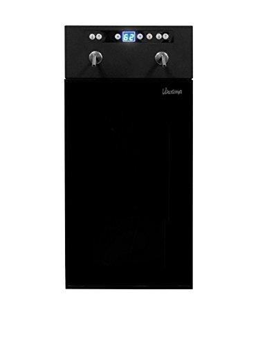 Vinotemp 2-Bottle Wine Dispenser, Black