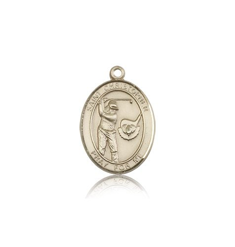 14kt Gold St. Christopher/Golf Medal