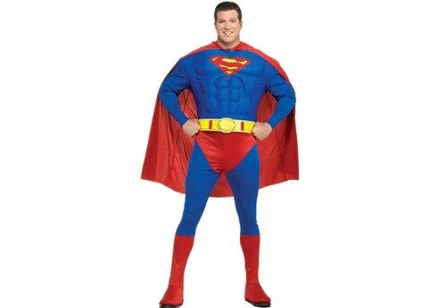 Deluxe Muscle Chest Superman Costume - Plus Size - Chest Size 46-50