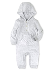 Pure Cotton Hooded Striped Onesie