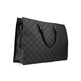 Gucci 190630 204046 Black Canvas Handbag