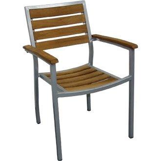 Jardín/Patio al aluminio y citoqueratina (pre-tratado) silla (4 unidades) - elegante y duradero muebles para su jardín