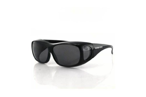 Bobster Condor Fitover Sunglasses,Black Frame/Smoked Lens,one size