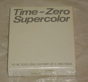 Polaroid Time-Zero Supercolor SX-70 Land Film 1 Pack - 10 Pictures (Expired July 1983)