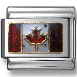 Canada-Flag Italian charm