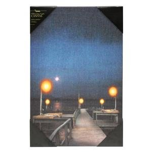 """Ohio Wholesale 36852 - 18"""" X 12"""" X 3/4"""" - """"Lighted Pier"""" Battery Operated Led Lighted Canvas (Batteries Not Included)"""