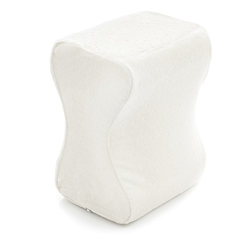 Milliard Contour Memory Foam Leg and Knee Pillow with Ultra Soft Velour Removable Cover