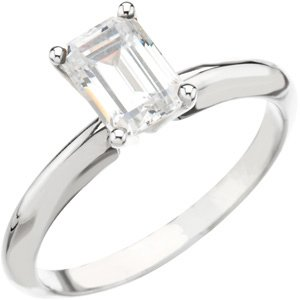 2.51 ct F Color SI1 Clarity GIA Certified Emerald Cut Diamond Solitaire Ring 14k Gold