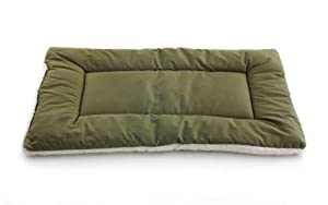 Pet Dreams Classic Sleep-eez Dog Bed Reversible 36 by 23-Inch Pet Bed, Large, Olive