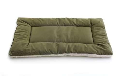 Pet Dreams Classic Sleep-Eez Dog Bed Reversible 30 By 20-Inch Pet Bed, Medium, Olive front-733738