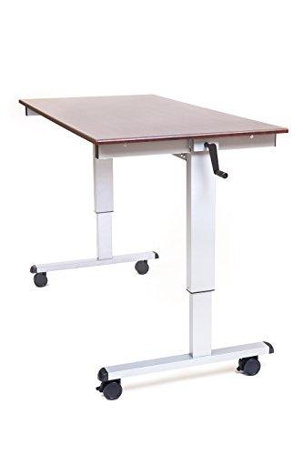"LUXOR Standup-CF60-DW Stand Up Desk, Crank Adjustable, 60"""
