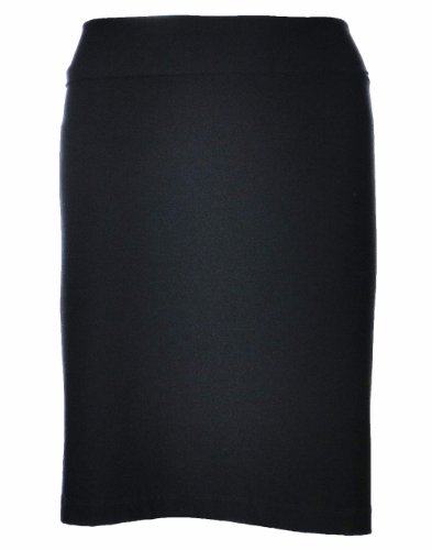 Eileen Fisher Fold-Over Stretch Crepe Mini Skirt X-Large Black [Apparel]