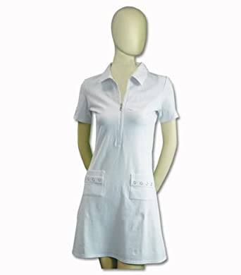 Titania Golf Ladies Moisture Wicking Golf Dress in White with Rhinestone Pattern by Titania Golf