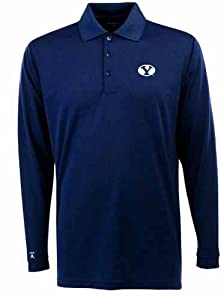 Brigham Young Long Sleeve Polo Shirt (Team Color) by Antigua
