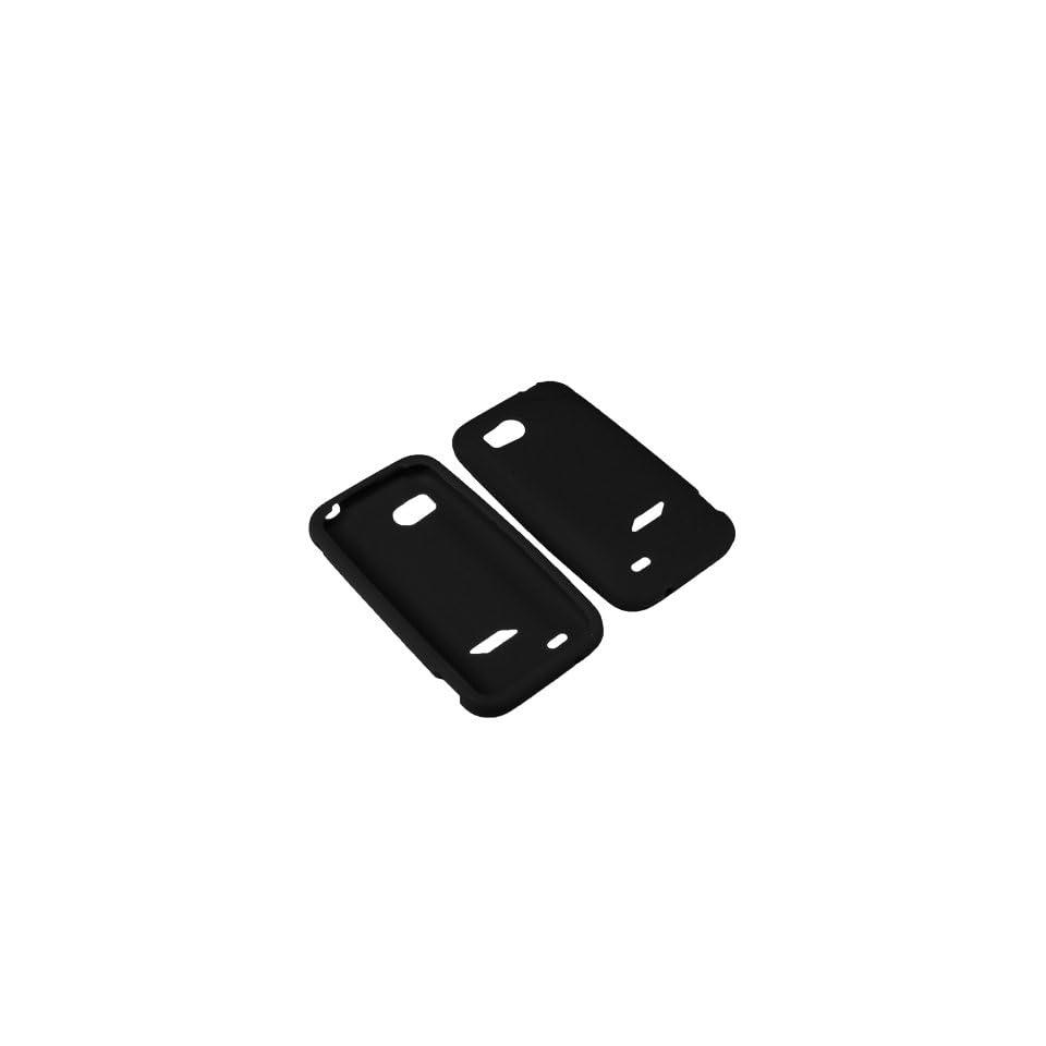 AM Soft Sleeve Gel Cover Skin Case for Verizon HTC Rezound ADR6425  Black