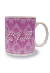 La Jolla Coffee Mugs Pink Diamonds 4 pack