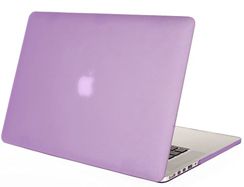 "Mosiso - Purple Rubberized Hard Case Cover For Apple Macbook Pro 15.4"" With Retina Display Model: A1398 (Newest Version, No Cd-Rom Drive) 15-Inch (Purple)"