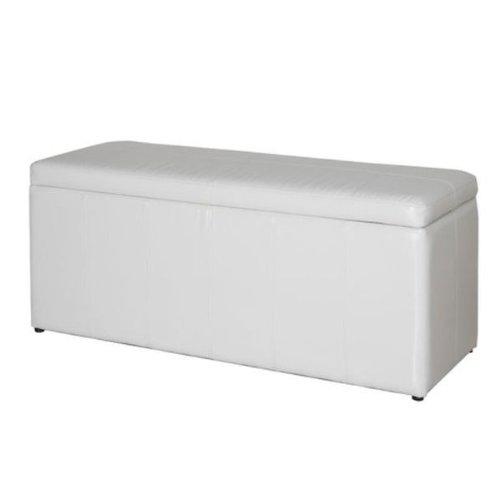 polsterbank mit bettzeugkasten in wei modell vermount ean 4250650421021. Black Bedroom Furniture Sets. Home Design Ideas