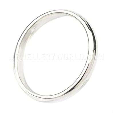 3mm Platinum Court Wedding Ring
