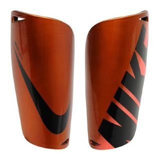 Nike Mercurial Lite Football Shin Pads Orange/Volt Medium