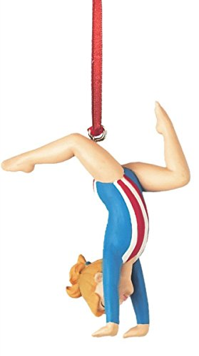 Blonde Olympic Gymnast Christmas Tree Ornament