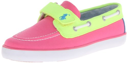 Polo Ralph Lauren Kids Sander EZ Fashion Sneaker ,Hot Pink/N