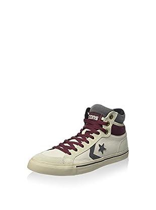 Converse Zapatillas abotinadas Pro Blaze Hi Leather/Suede (Blanco / Burdeos)