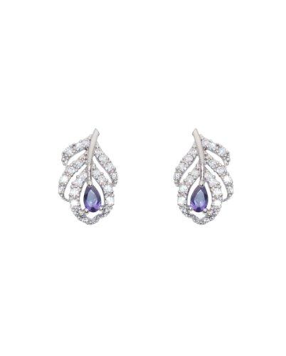 David Tutera Embellish Farrah Earrings -Purple