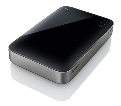 Buffalo Ministation Air 500GB USB 3.0 & Wireless Portable Storage - Black