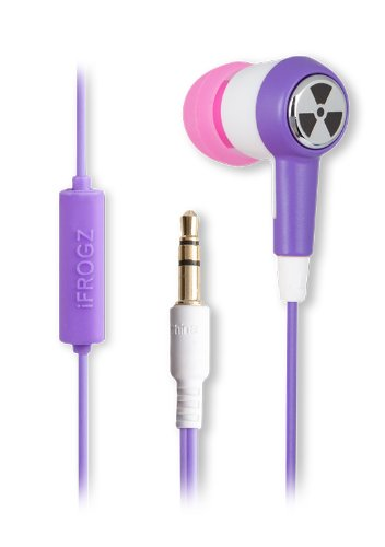 Earpollution Ozone Earbuds With Microphone - Retail Packaging - Purple/Pink