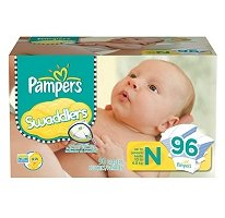 Pampers - Swaddlers, Size Newborn (Up To 10 Lbs.), 96 Ct.