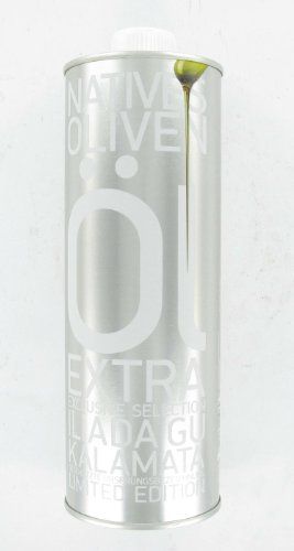 Iliada Greek Kalamata Extra Virgin Olive Oil Excusive Selection PDO Tin 500 ml (Pack of 2)