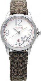 Coach classic women's date watch khaki heart 14501220
