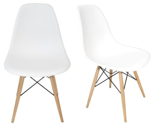 Chelsea dsw molded plastic dining side chairs set of 2 for Chaise style dsw