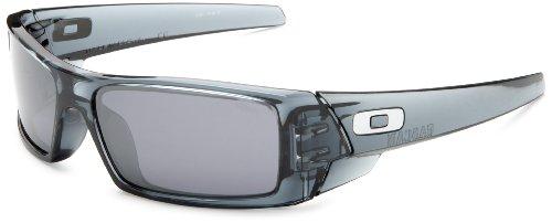 Oakley Menu0027s GasCan Iridium Sunglasses,Crystal Black Frame/Black Lens,one  Size