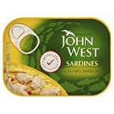 John West Boneless Sardines in Sunflower Oil 95g