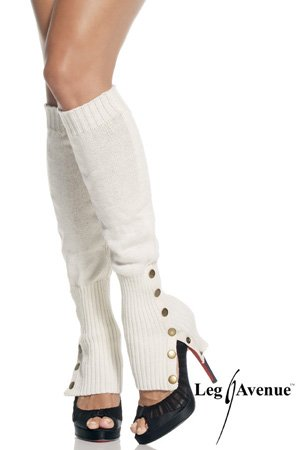 Leg Warmers W/ Button Side