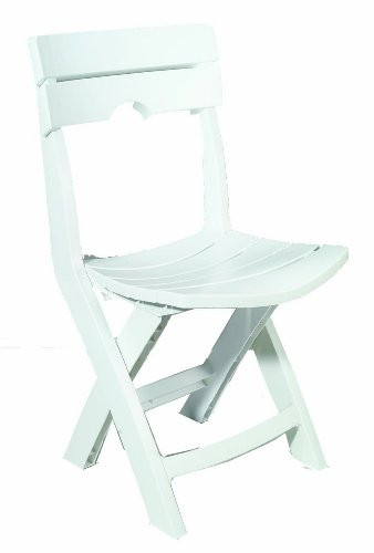 Adams Manufacturing 8575-48-3700 Quik-Fold® Chair, White front-956005