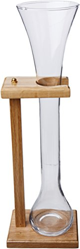 Half Yard Of Ale Glass w/ Wooden Stand, 32 oz