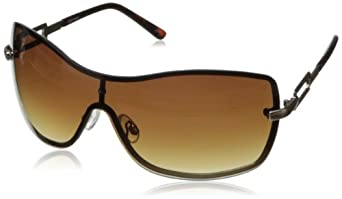Steve Madden Women's S5470 Shield Sunglasses,Gold,165 mm