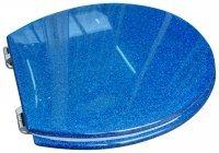toilet seat blue glitter fun funky kitchen home