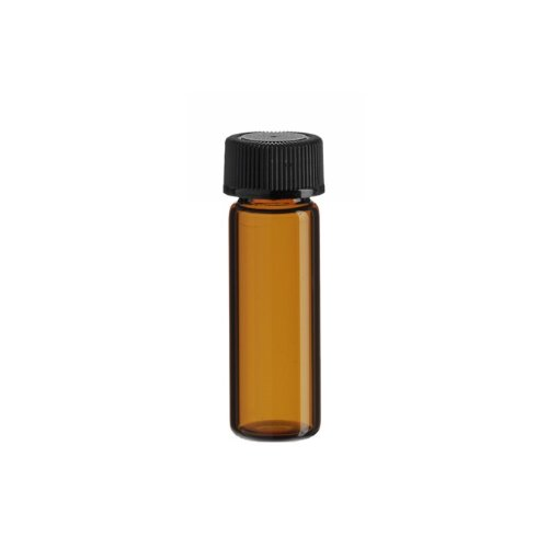 Premium Vials B4702-12 Glass Vial with Screw Cap, 1 Dram Capacity, Amber (Pack of 12) (Glass Vials 1 Dram compare prices)