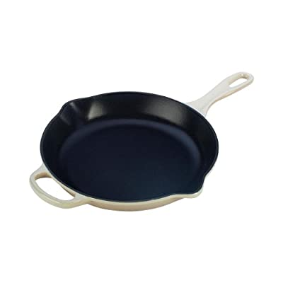 Le Creuset Signature Iron Handle Skillet, 10-1/4-Inch, Dune