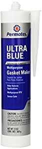 Permatex 81725 Sensor-Safe Ultra Blue RTV Silicone Gasket Maker, 13 oz.