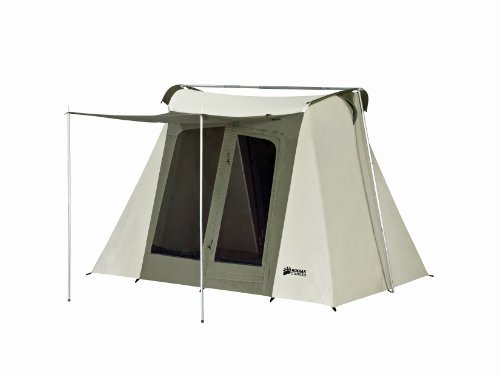 Kodiak Canvas Flex-Bow 4-Person Canvas Tent, Deluxe, Outdoor Stuffs