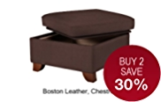 Large Storage Stool - Leather
