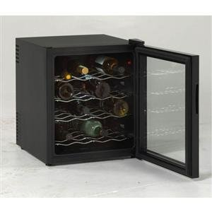 EWC1601B 16 Bottle Thermoelectric Wine Cooler with Adjustable Thermostat Recessed...