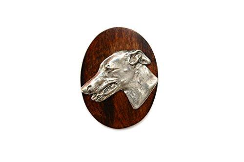 grigio-hound-inglese-greyhound-cane-lanello-di-clip-numero-di-supporto-edizione-limitata-artdog