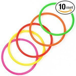 "Elife 10 pcs 5"" Plastic Toss Rings for Speed and Agility Practice Games (10 pcs; 5"")"