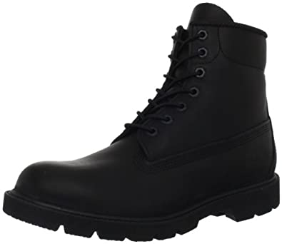 Timberland Men's 6 Inch Basic Boot,Black,3.5 M US